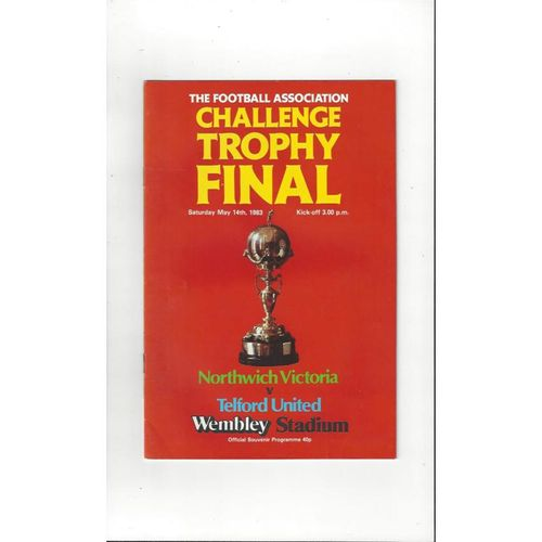 1983 Northwich Victoria v Telford United Trophy Final Football Programme