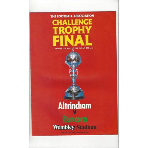 1986 Altrincham v Runcorn Trophy Final Football Programme