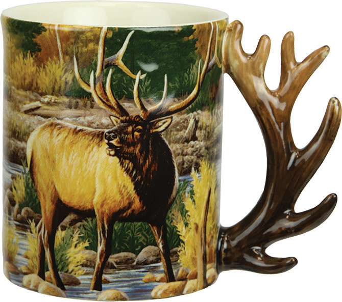 9b03204a908 Deer/ Farm- deer. The raised, nature-themed images and sculpted handles  make these stoneware mugs cherished collectables. Microwave and dishwasher  safe.