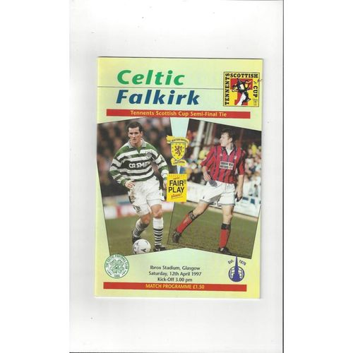 Scottish Cup Semi Final Football Programmes