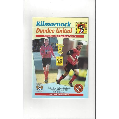 1997 Kilmarnock v Dundee United Scottish Cup Semi Final Football Programme