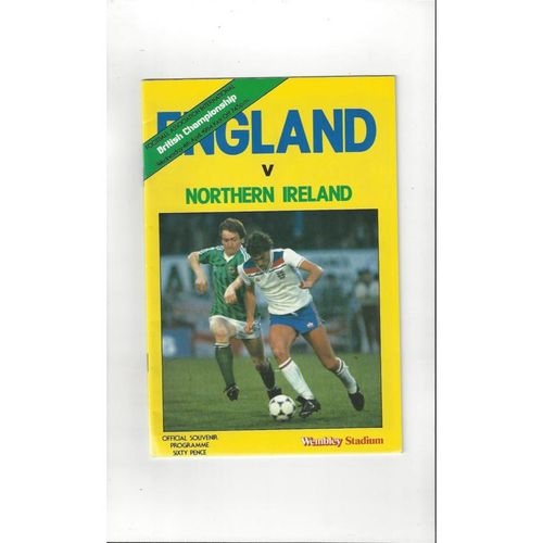 1984 England v Northern Ireland Football Programme