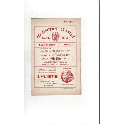 Accrington Stanley Home Football Programmes