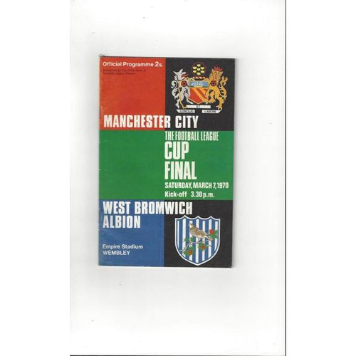 1970 Manchester City v West Bromwich Albion League Cup Final Football Programme
