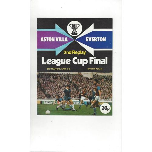 1977 Aston Villa v Everton League Cup Final 2nd Replay Football Programme