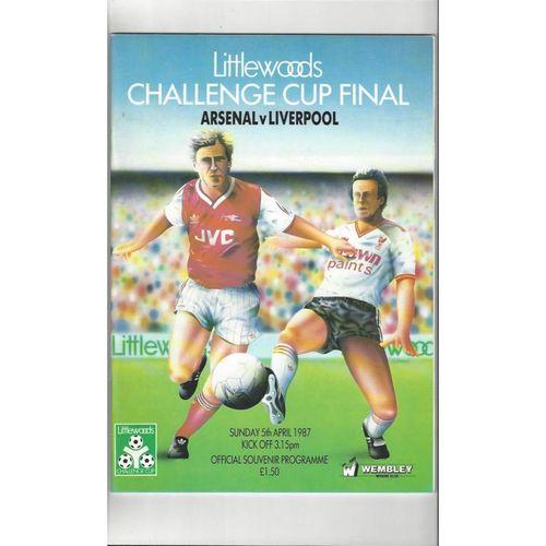 1987 Arsenal v Liverpool League Cup Final Football Programme
