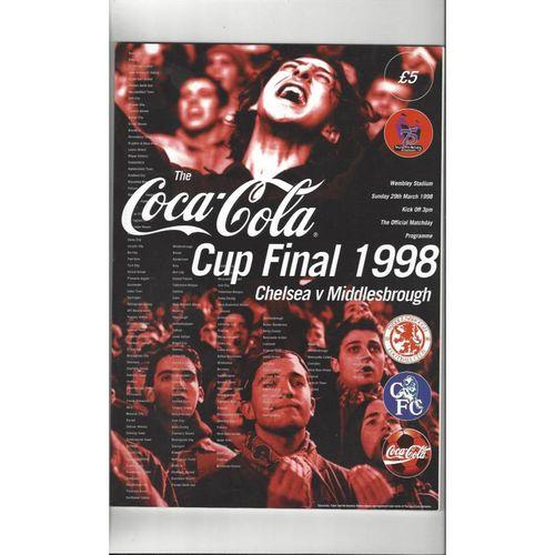 1998 Chelsea v Middlesbrough League Cup Final Football Programme