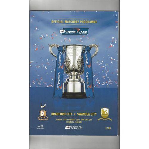 2013 Bradford City v Swansea League Cup Final Football Programme