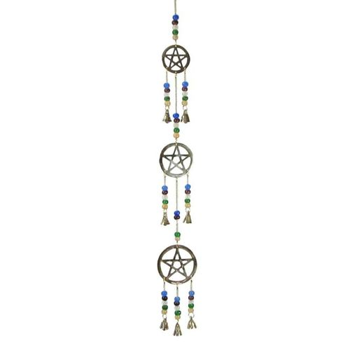 3 Pentacle Brass Wind Chime
