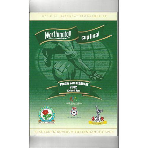 2002 Blackburn Rovers v Tottenham Hotspur League Cup Final Football Programme