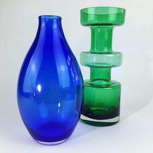 Mid Century Murano cobalt blue vase