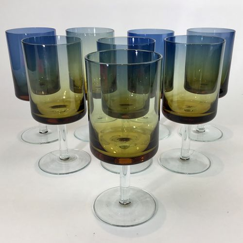 An astounding set of Zbigniew Horbowy wine glasses