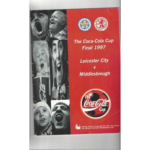 1997 Leicester City v Middlesbrough League Cup Final Football Programme