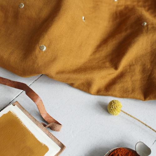 Atelier Brunette Stardust Ochre Double Cotton Gauze