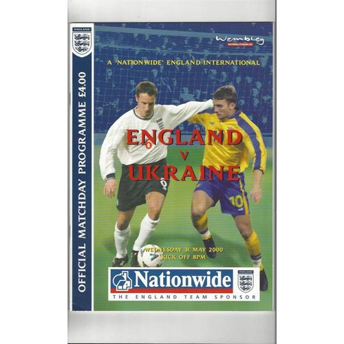 England Home Football Programmes
