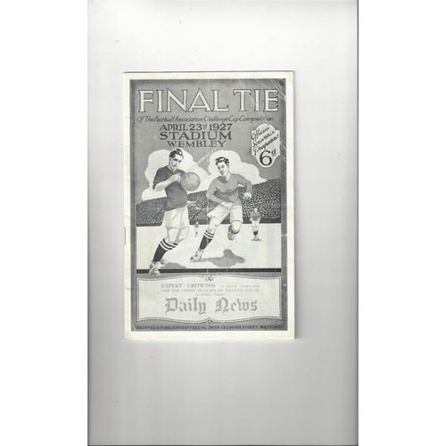 1927 Arsenal v Cardiff City FA Cup Final Football Programmes Reprint