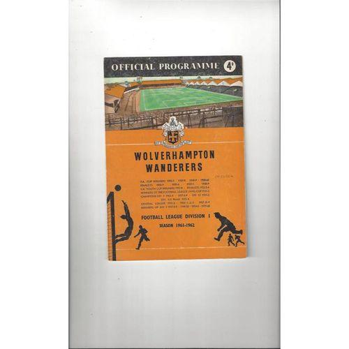 1961/62 Wolves v Chelsea Football Programme
