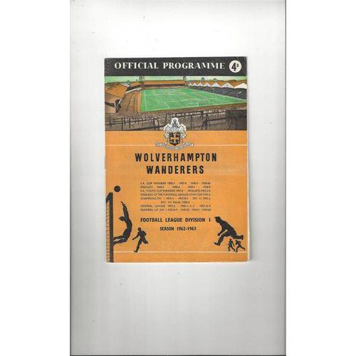 1962/63 Wolves v Fulham Football Programme