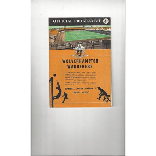 1962/63 Wolves v Leicester City Football Programme