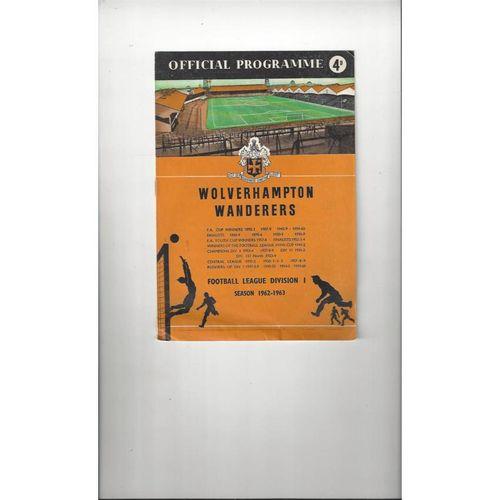 Wolverhampton Wanderes Home Football Programmes