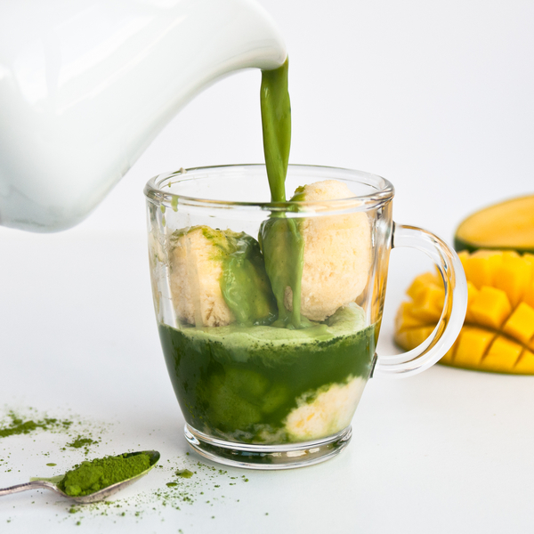 Matcha Green Tea & Mango Affogato