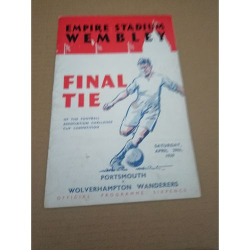 1939 Portsmouth v Wolves FA Cup Final Football Programme