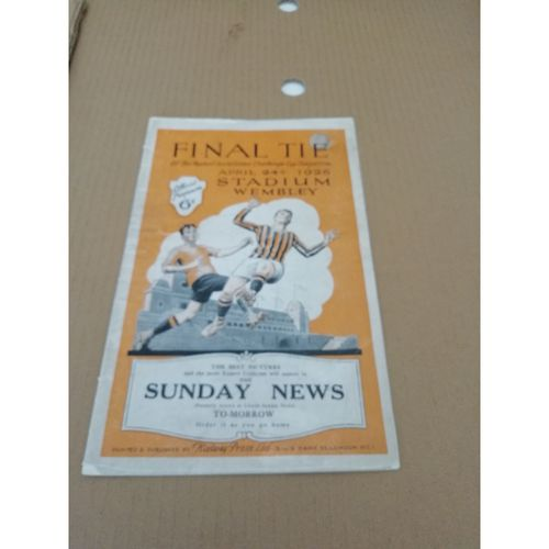 1926 Bolton Wanderers v Manchester City FA Cup Final Football Programme
