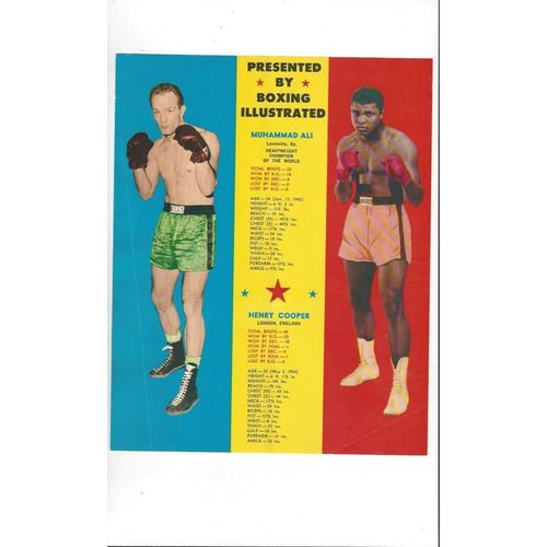 1966 Muhammad Ali v Henry Cooper Heavyweight of the World Programme @ Arsenal