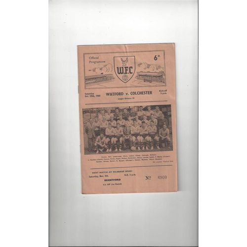 Colchester United Away Football Programmes