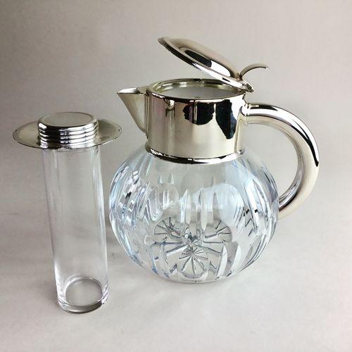 Val Saint Lambert crystal chilling jug