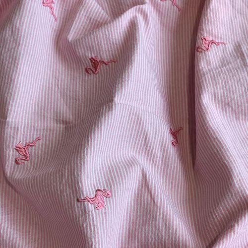 Flamingos Pink Seersucker