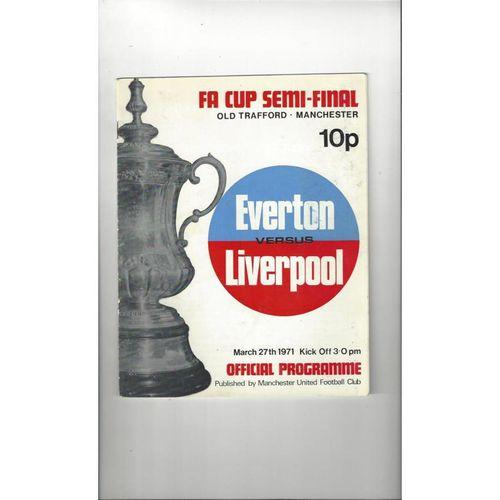 1971 Everton v Liverpool FA Cup Semi Final Football Programme
