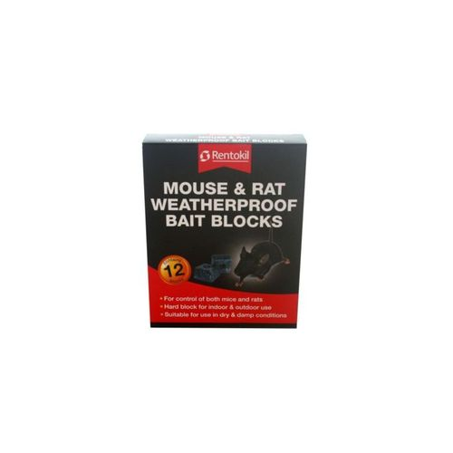 Rentokil Mouse and Rat weatherproof Bait Blocks