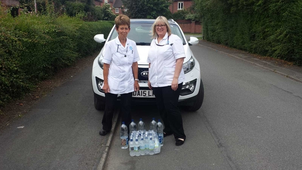 Burst Water Main In Tattenhall - TLC take bottled water to our service users.