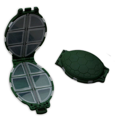 Tortoise Shaped 12 Compartment Storage Box For Flies, Hooks And Lures