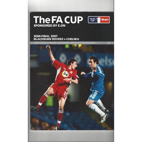 2007 Blackburn Rovers v Chelsea FA Cup Semi Final Football Programme