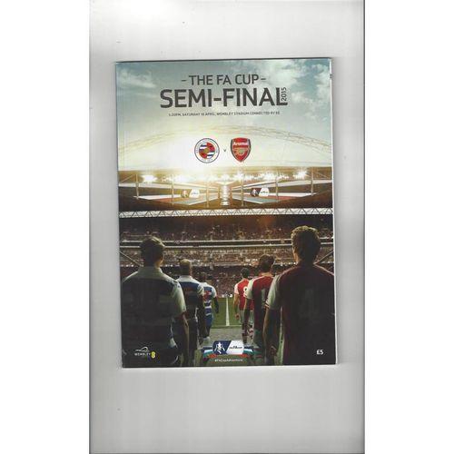 2015 Reading v Arsenal FA Cup Semi Final Football Programme