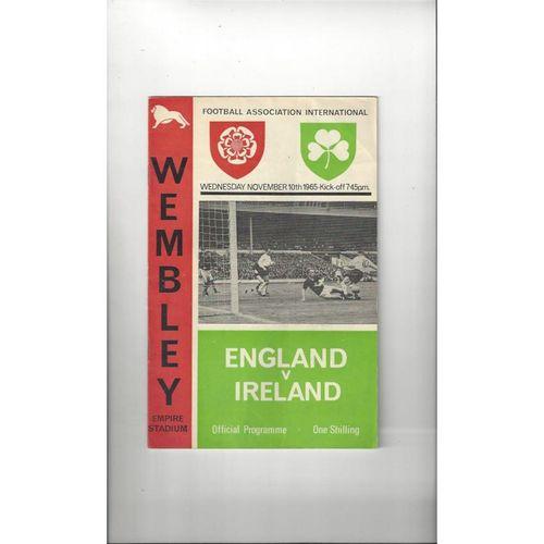 1965 England v Ireland Football Programme