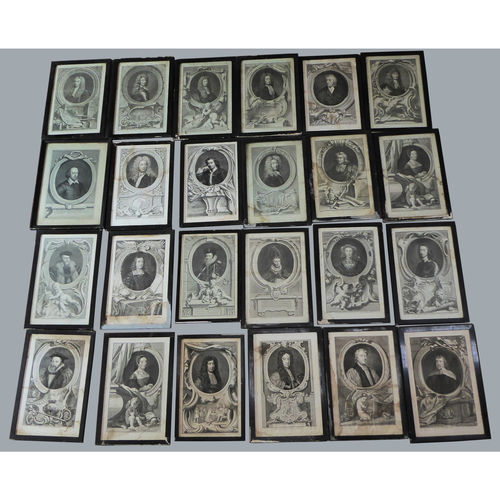 Collection of 24 Antique Framed Prints of Various Noble Lords - £5,000