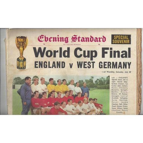 1966 WORLD CUP Newspaper, Information leaflet & AA Planer