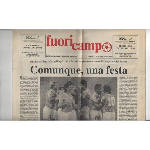 1990 World Cup Final West Germany v Argentina Newspaper Football Programme