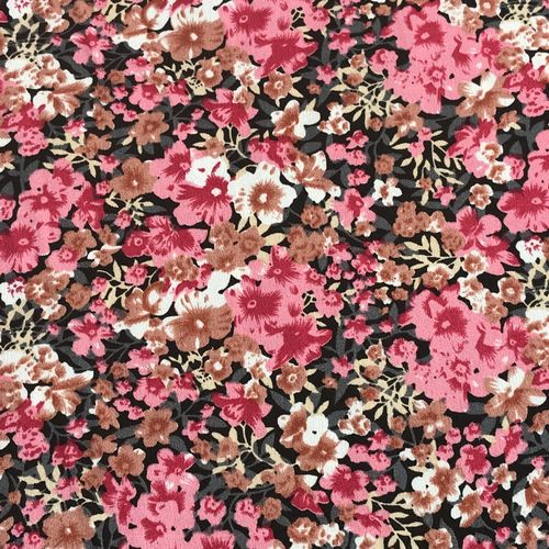 Flower Show Pink Spun Polyester