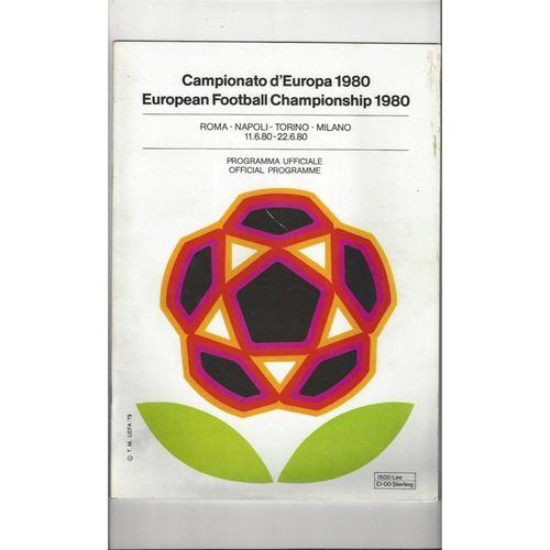 Euro 1980 Official Football Programme