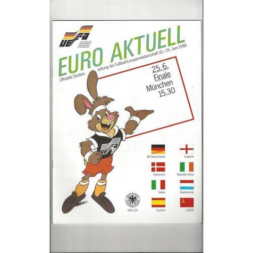 Euro 88 Final Holland v Russia Football Programme