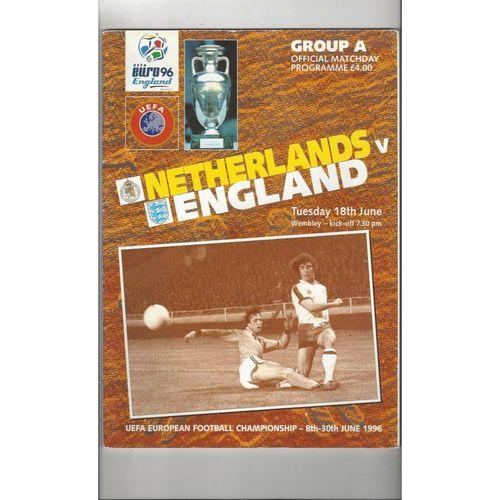 Euro 96 Netherlands v England Football Programme