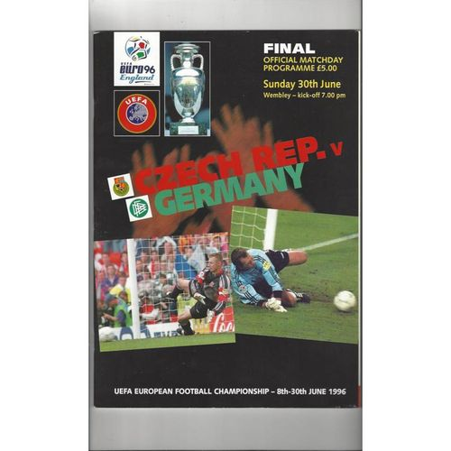 Euro 96 Final Czech Rep v Germany Football Programme