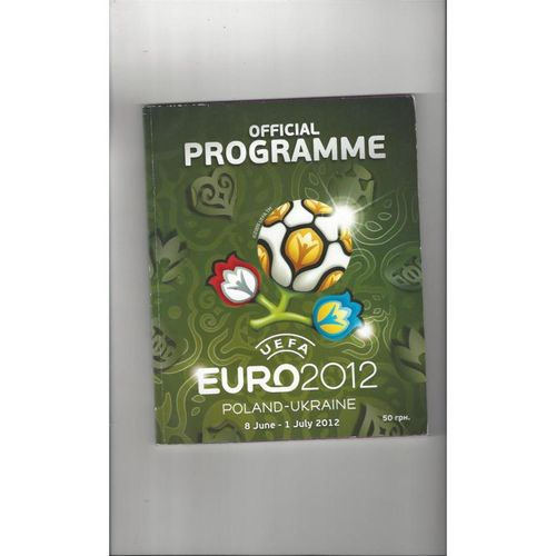 Euro 2012 Official Tournament Football Programme
