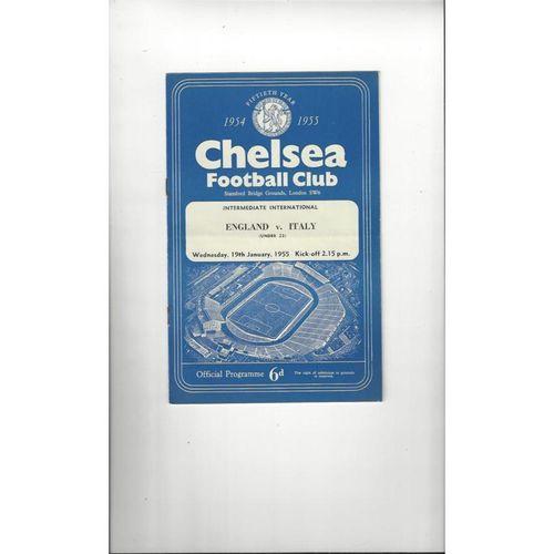 1955 England v Italy U23 Football Programme @ Chelsea