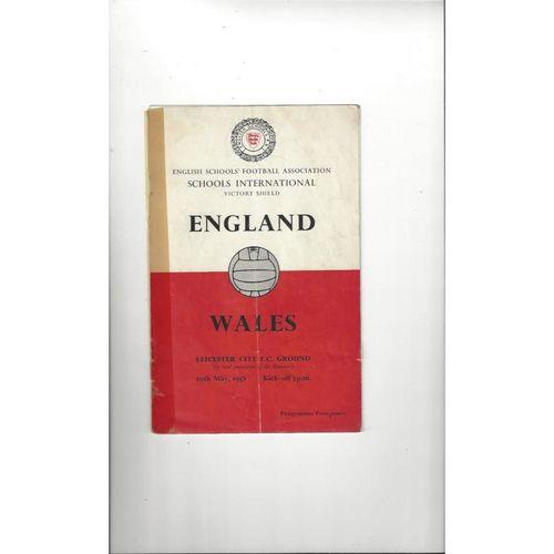 1958 England v Wales Schools Football Programme