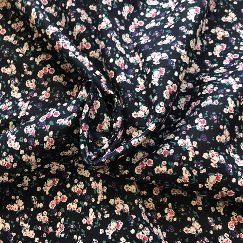 Blurred Florals Navy Cotton Lawn